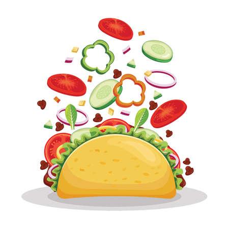 Tossed taco.