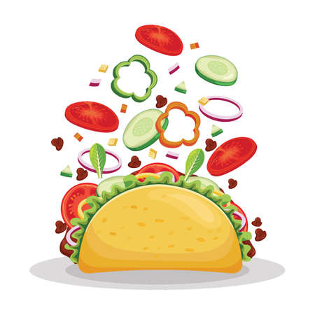 Taco tossed. Banque d'images - 77172479