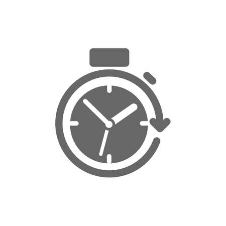 Stopwatch with arrow icon.