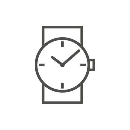 Wristwatch icon. Illustration