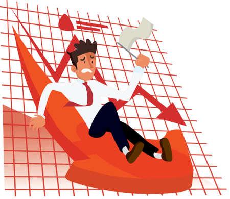 business loss concept Illusztráció