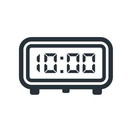 digital clock icon Stock Vector - 77328015