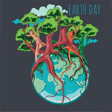 earth day design Фото со стока - 77328033
