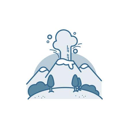 Volcanic eruption Illustration