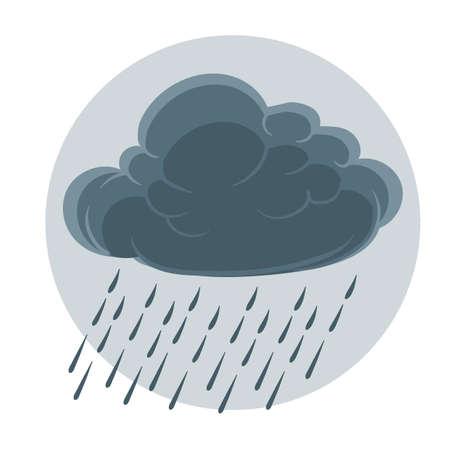 dark clouds: Cloud with rain