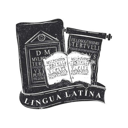 Latin language icon Иллюстрация