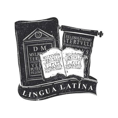 Latin language icon Illustration