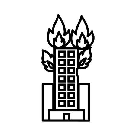Building on fire 向量圖像