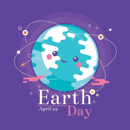 Earth day design Illusztráció
