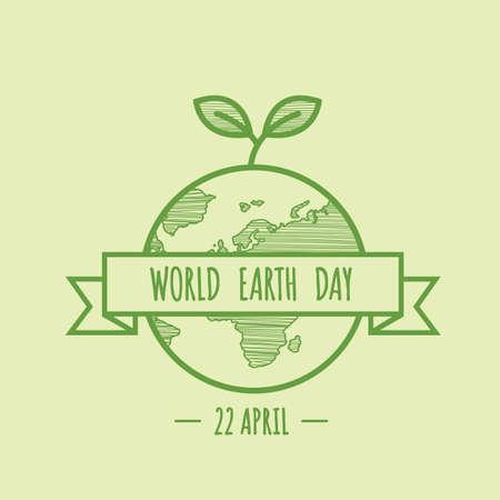 세계 지구의 날 디자인 일러스트