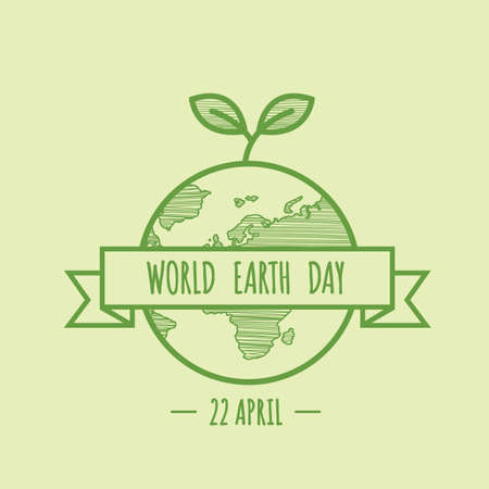 World earth day design