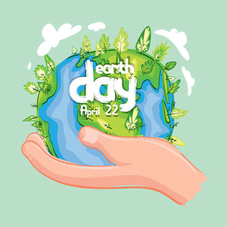 Earth day design Vettoriali