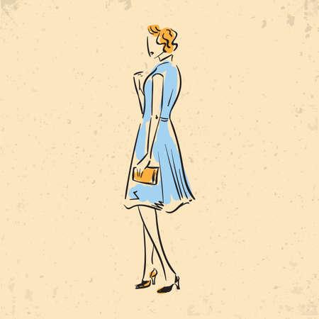 캐주얼 드레스 패션 모델
