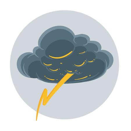 thunderstorm: Thunderstorm concept Illustration