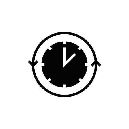 Klok met pijlpictogram