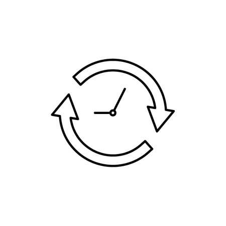 Klok met pijlen pictogram