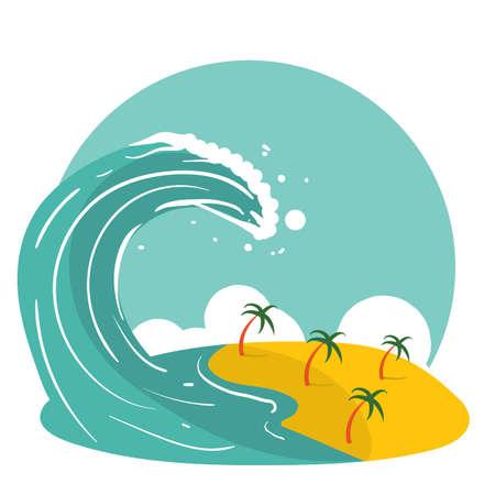 津波  イラスト・ベクター素材