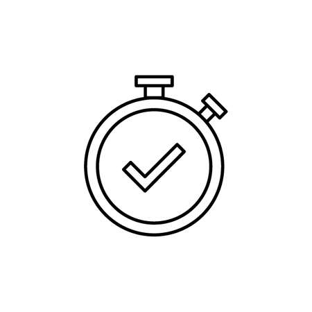 Stopwatch with check mark Ilustrace