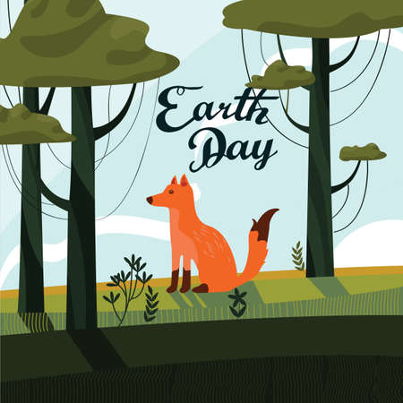 Earth day design Иллюстрация