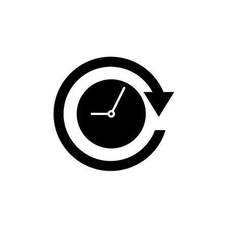Clock with arrow icon Illustration