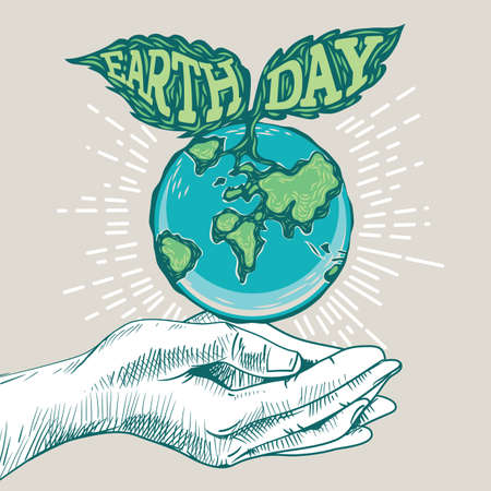 Earth day design Illustration