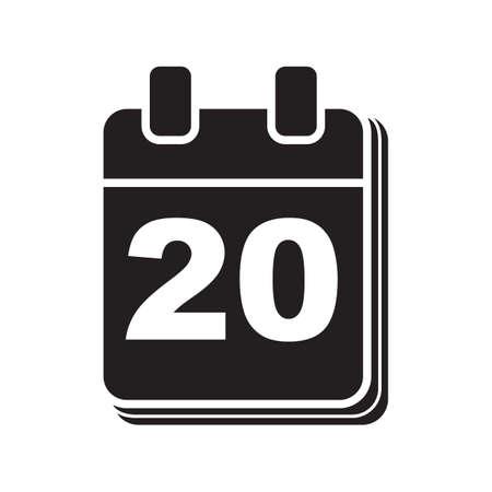Calendar icon Ilustrace