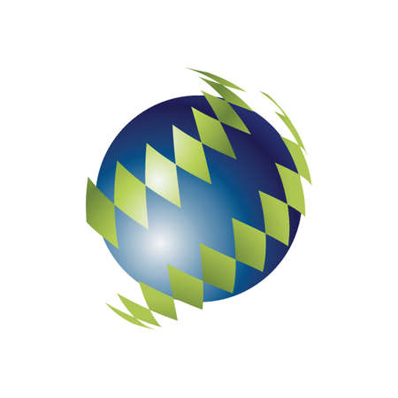 Spherical logo element design Иллюстрация