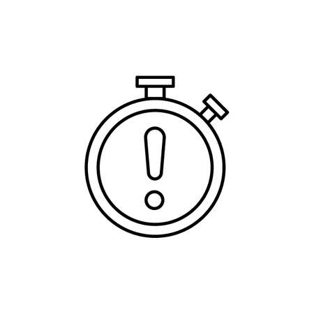 Stopwatch with exclamation symbol Illustration