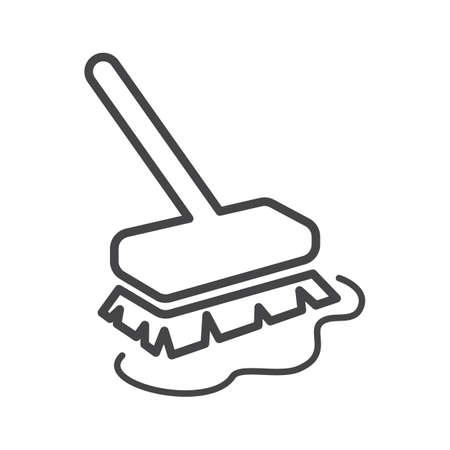 Floor brush Illustration
