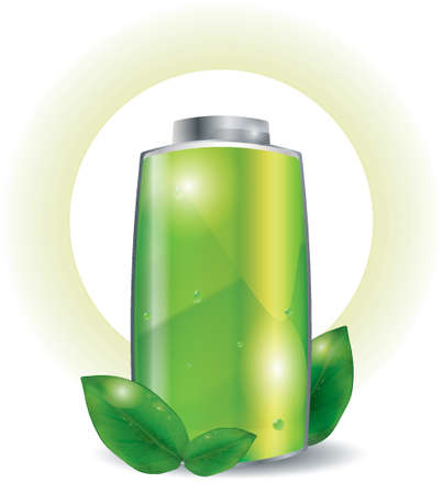 Battery with ecology concept Ilustração