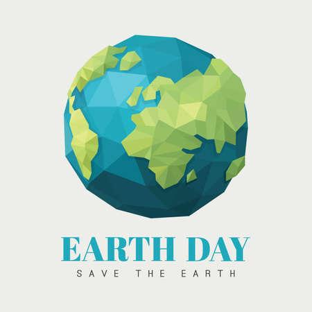 Earth day design 向量圖像