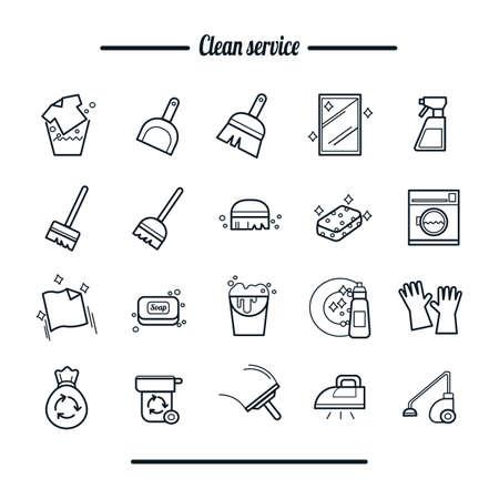 Ensemble d'outils de nettoyage Vecteurs