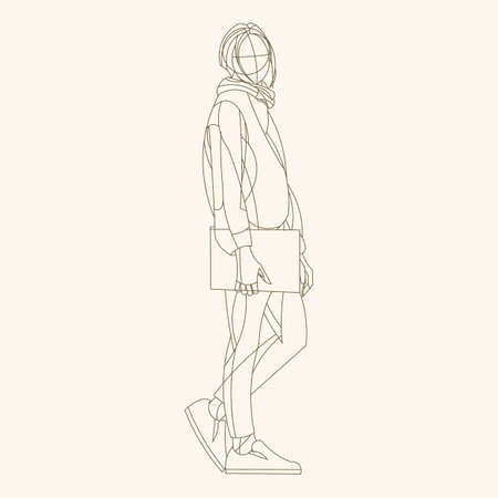 Sketch of a person