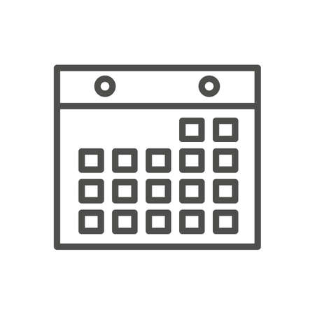 カレンダー アイコン  イラスト・ベクター素材