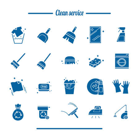 Set of clean service tools