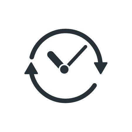 矢印の付いた時計します。  イラスト・ベクター素材