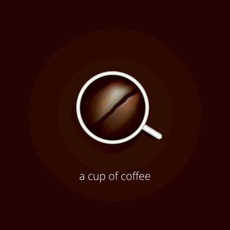 컵 커피 디자인
