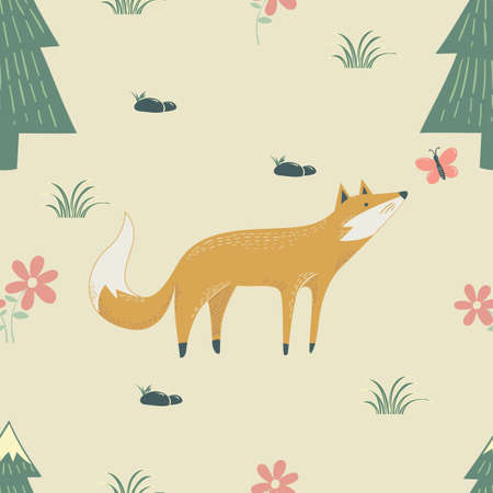 fox wrapping paper design