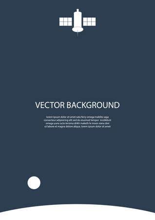 satellite background design Illustration