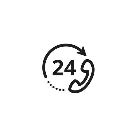 24 hours customer service icon Ilustrace