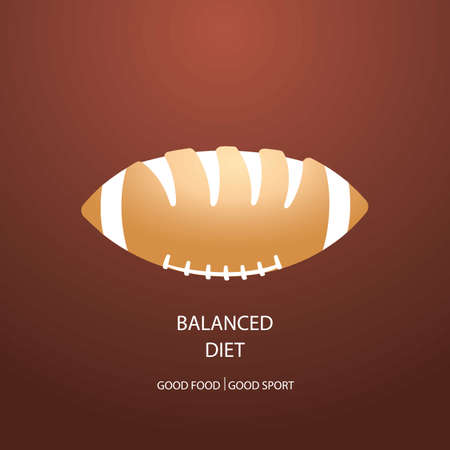 balanced diet design Ilustrace