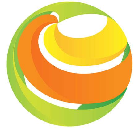 globe logo element concept