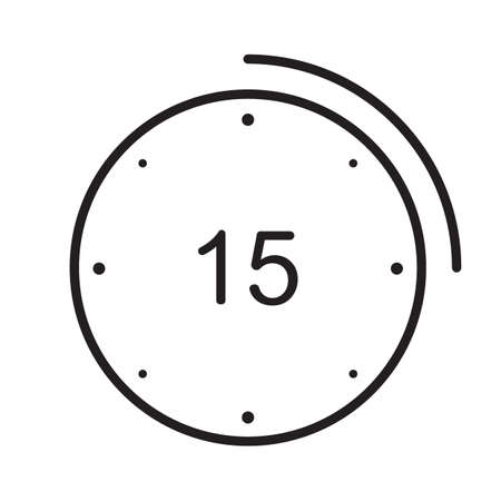 15 seconds icon Illustration