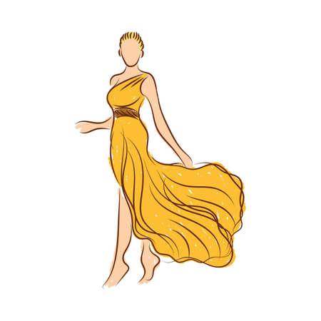 Croquis modèle de mode Banque d'images - 77300583