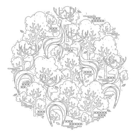 intricate forest design