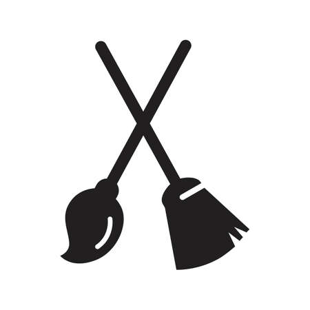 broomstick and cleaning mop
