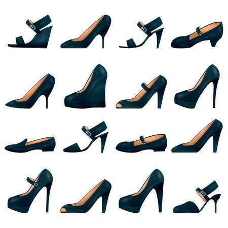 collection of ladies footwear