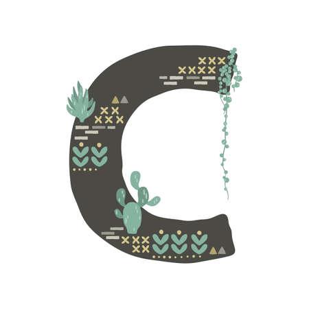 succulent inspired letter c Banque d'images - 106675208