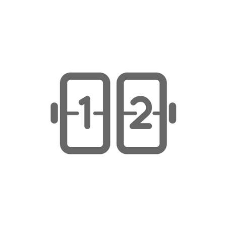 flip clock icon Stock fotó - 106675209
