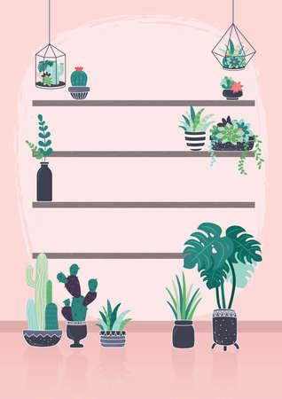 プラント養樹園設計  イラスト・ベクター素材